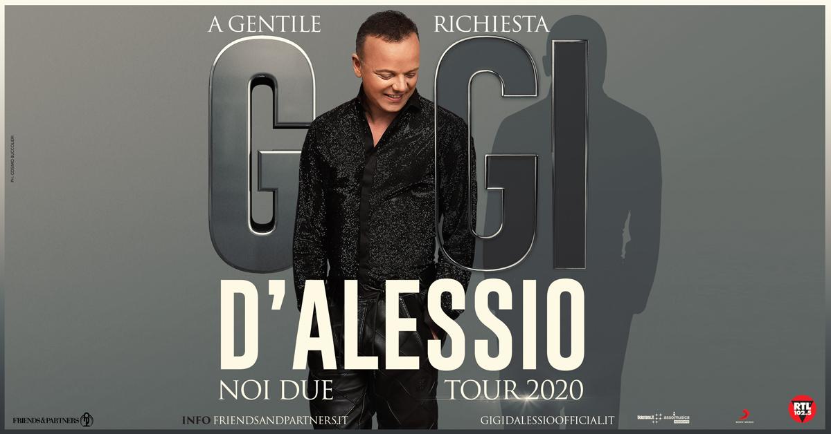 """Al via le prevendite del """"Noi due tour 2020"""" di Gigi D'Alessio"""