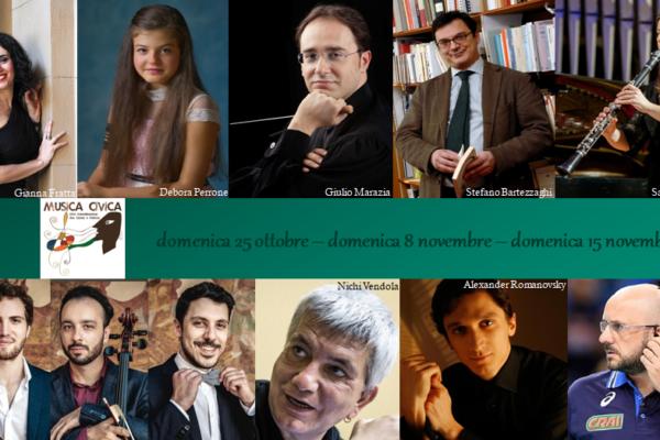 """Riprendono i concerti di """"Musica Civica"""""""
