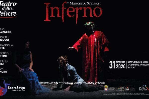 """""""Inferno"""" di Marcello Strinati in diretta streaming col Teatro della Polvere"""