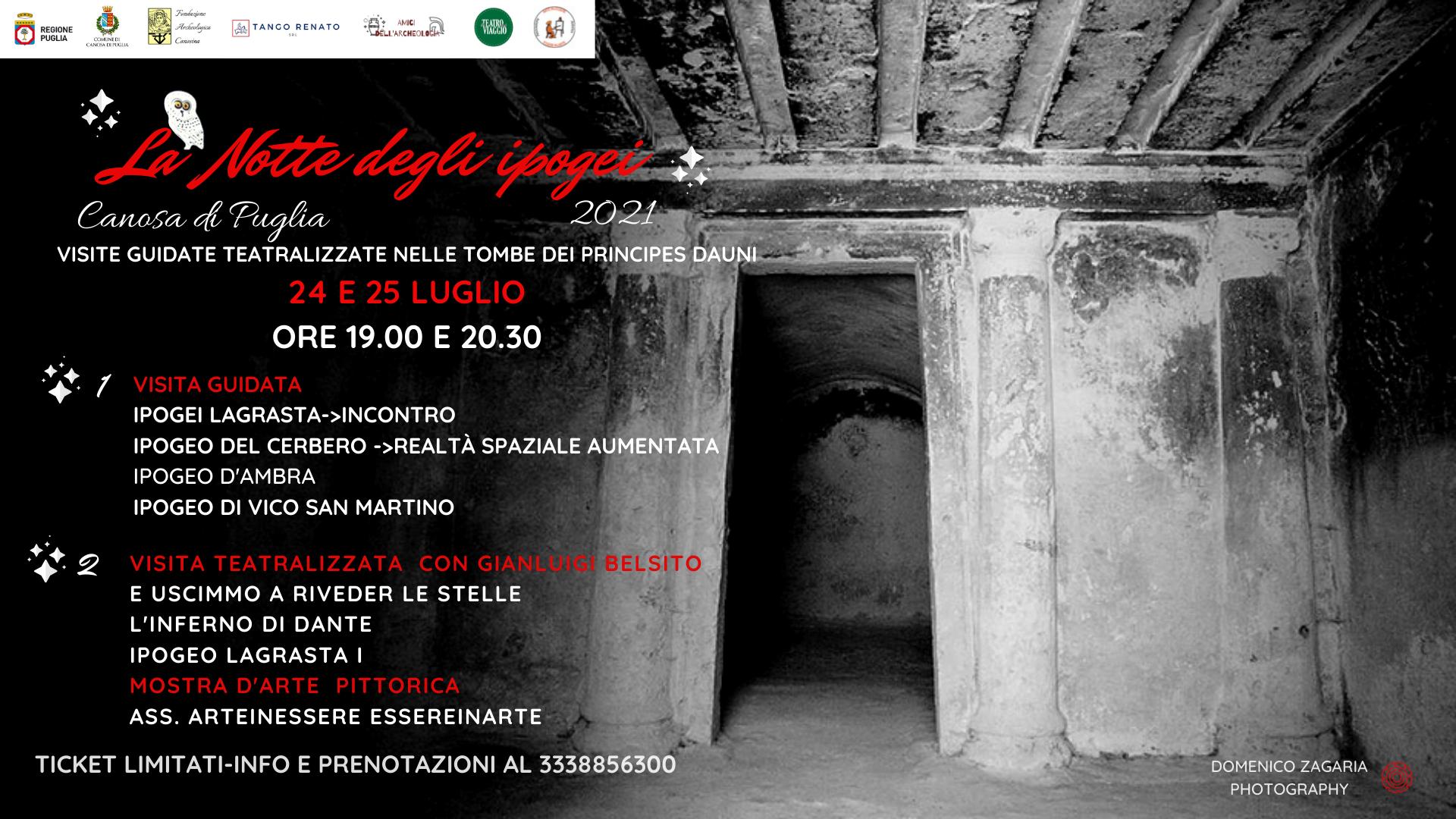 Si avvicina la Notte degli ipogei 2021 a Canosa di Puglia
